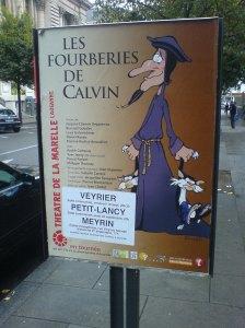 Calvin-Plakat Genf